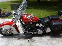 Beautiful red over pearl white 2001 Indian Chief bike
