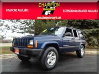 Options:  2001 Jeep Cherokee Sport 4Wd 4Dr Sport