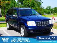 2001 Jeep Grand Cherokee in Blue. PowerTech 4.7L V8.