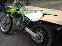 I am selling my 2001 Kawasaki KX 125 two stroke dirt