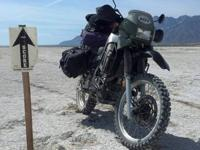 2001 KLR 650 28,500 miles Military green Last year