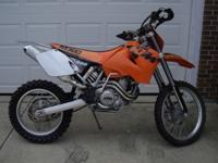 2001 KTM MXC 400 Electric Start. The bike is in