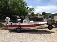 2001 Majek Texas skiff is a 16 ft RFL with a 2001 70hp