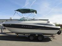 THIS IS A GREAT 2001 2300SR MAXUM OPEN BOW BOAT. IT IS