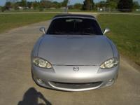 For Sale 2001 Mazda Miata MX-5 Convdertible. Silver