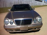 2001 Mercedes-Benz E Class Gold with tan leather