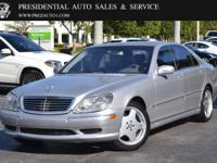 This 2001 Mercedes-Benz S-Class 4dr 4dr Sedan AMG