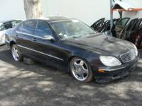 Available are parts off this 2001 MB S430, black