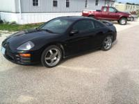 VERY NICE 2001 Mitsubishi Eclipse GT, Black in Color,