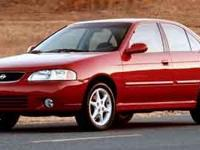 2001 Nissan Sentra SE 2.0L I4 SMPI DOHC Please contact