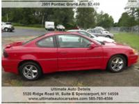 Nice clean 2001 Pontiac Grand Am GT 2Dr Coupe. Front