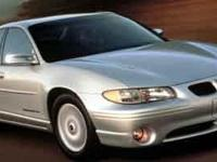 2001 Pontiac Grand Prix Silver  29/20 Highway/City MPG
