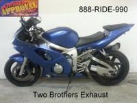 2001 R6 by Yamaha 600cc crotch rocket just $3799!