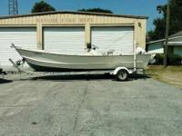 2001 rentolyn 23ft wooden CC boat with 2001 112