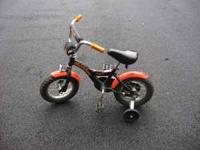This is a very well built heavy steel frame childrens'