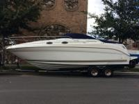 Up for auction a beautiful 2001 Sea Ray 260 powered by