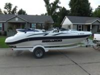 2001 seadoo challenger jet boat with trailer. It is