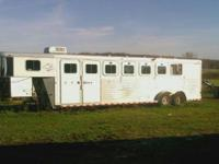 2001 Sooner Five Horse Slant Trailer with Mid Tack Room