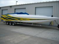This Beautiful 2001 Spectre 36' Poker Run Boat has only
