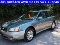 ***2001 Subaru Outback AWD, 3.0 LTR V6, L. L. BEAN and