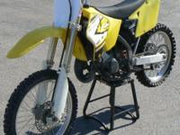 2001 Suzuki 125 2 Stroke MX Motorcycle. $1,249 Or