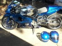 2001 Suzuki GSX-R 1000 with 14000 miles. Custom built.