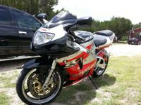 For sale is a 2001 Suzuki GSXR 750. The Bike looks