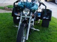 2001 Suzuki VS800GLPK1 Intruder with 800 Lehman Trike.