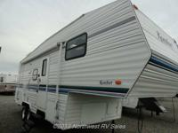 Unusual bunkhouse design fifth wheel! This trailer