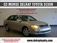 In this 2001 Toyota Avalon, delight in every drive with