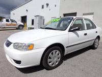 White Hot! Stick shift! This fantastic 2001 Toyota