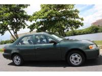 This is a Beautiful 2001 Toyota Corolla CE, Still