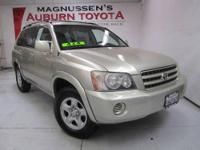 4WD! This 2001 Toyota Highlander is priced right! For