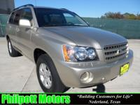 Options Included: N/A2001 Toyota Highlander, tan with