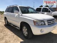 White 2001 Toyota Highlander V6 FWD 4-Speed Automatic