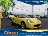 This 2001 Toyota MR2 Spyder in Solar Yellow features:
