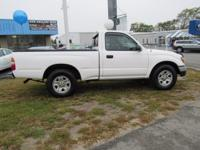 New Price! Super White 2001 Toyota Tacoma RWD 5-Speed