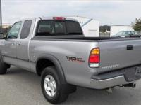 2001 Toyota Tundra Access Cab TRD 4WD.It is Silver with