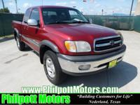 Options Included: N/A2001 Toyota Tundra Access Cab, red