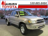LEATHER INTERIOR! This 2001 Toyota Tundra Access Cab