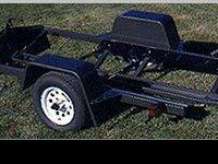 Lowrider tilt, single bike trailer, stone gard, built