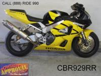 2001 used Honda CBR900RR for sale only $2,999! Needs a