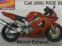2001 Used Honda Cbr929RR For Sale-U1852 only $3999!