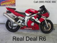 2001 Used Yamaha R6 Crotch Rocket For Sale-U1895 $2799!