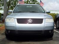 This 2001 Volkswagen Passat GLX features a 2.8L V6 FI