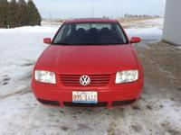 2001 VW Jeta, Redw/Black cloth interior,114,000 miles,