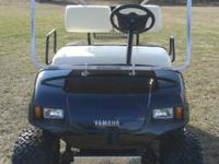 2001 yamaha g16 gas golf cart, new paint job, new head