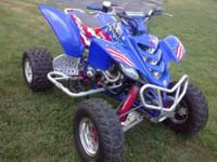 2001 Yamaha Raptor 660R. Less 30hrs of ride time on it.