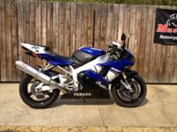 Awesome rare motorcycle. 2001 Yamaha YZF-R1 Champions
