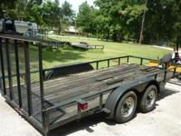 You are looking at a nice clean 7x20 Equipment trailer.